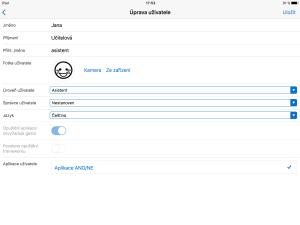 Nástroj i-CT frameworku: editace profilu učitele.